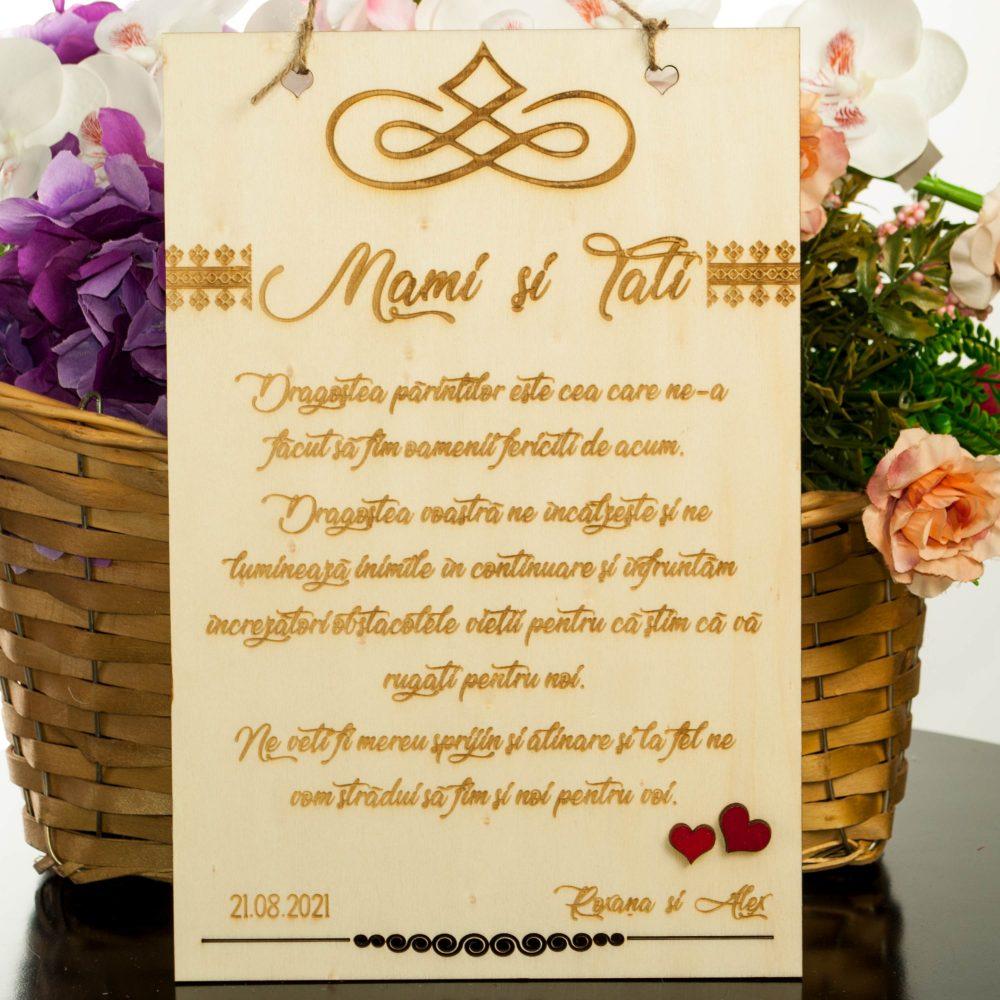 placuta gravata agatabila cadou pentru parinti