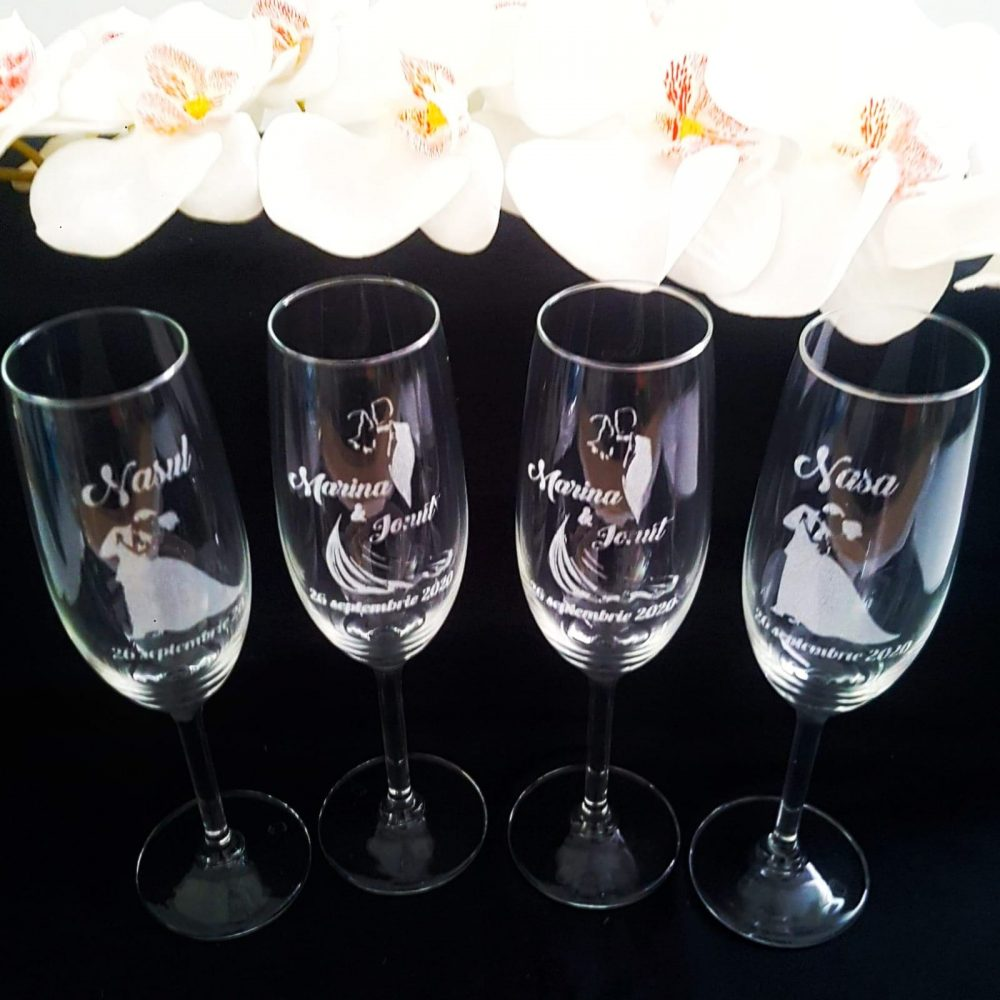 pahare personalizate nunta sau botez nasi
