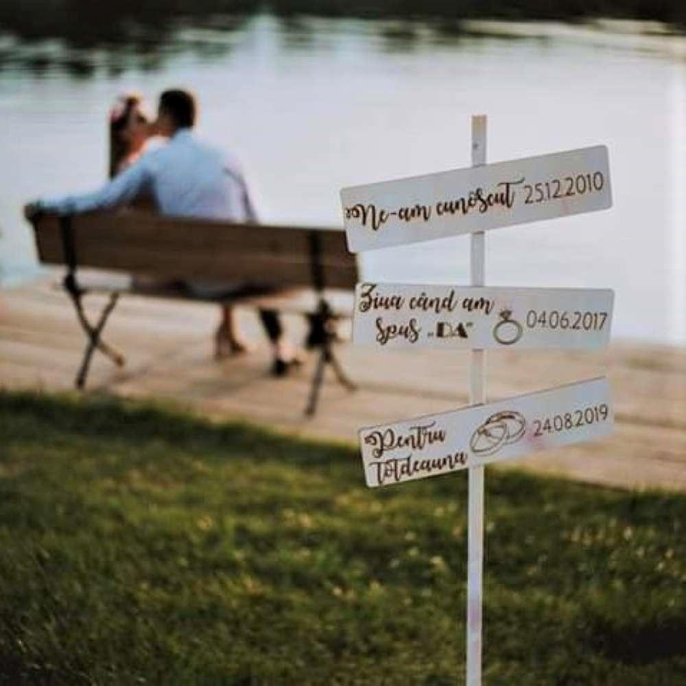 indicator panou bine ati venit nunta