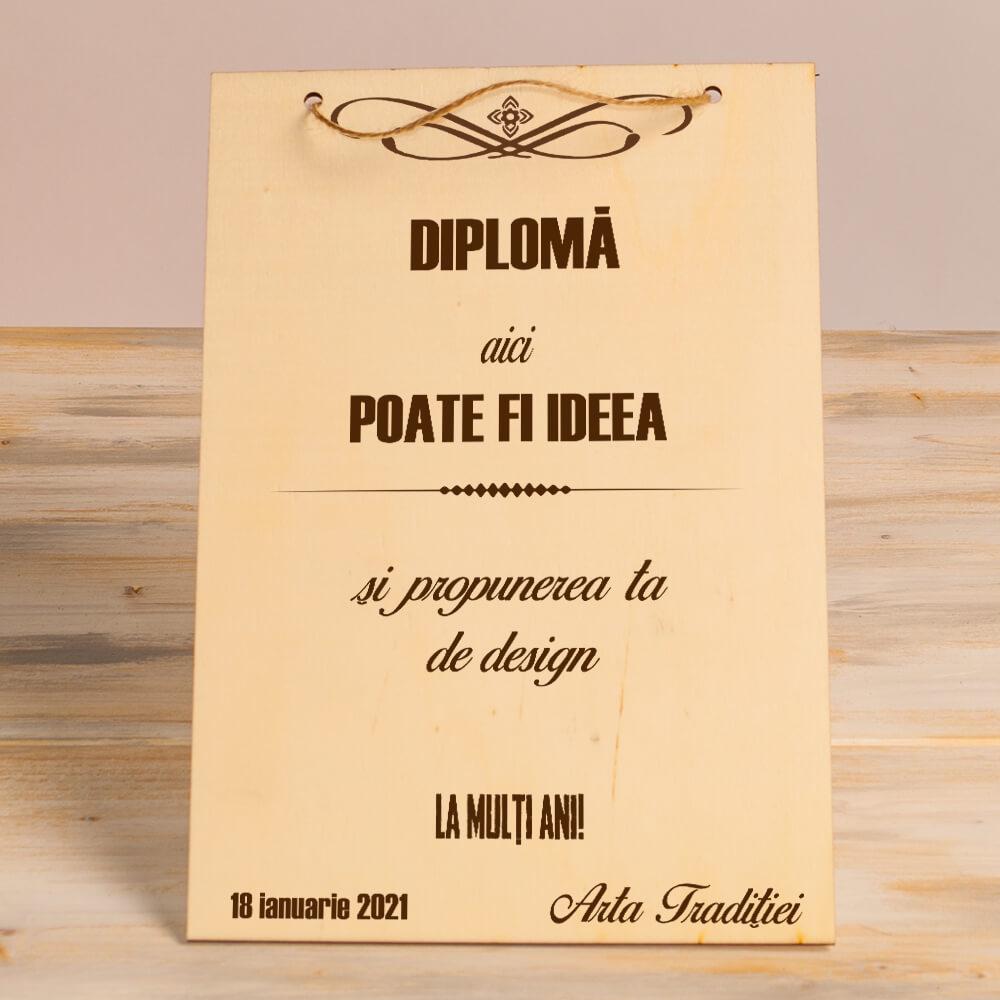 cadou diploma gravata