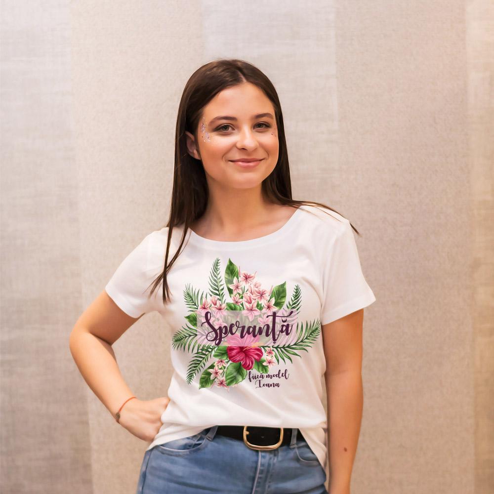 tricou personalizat alb fiica