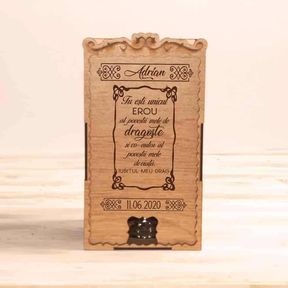cadou cutie pahare personalizate iubit