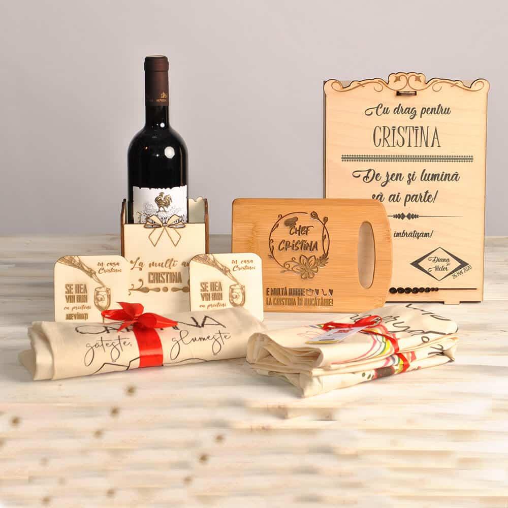 cadou colega personalizat vin plasuta sort tocator