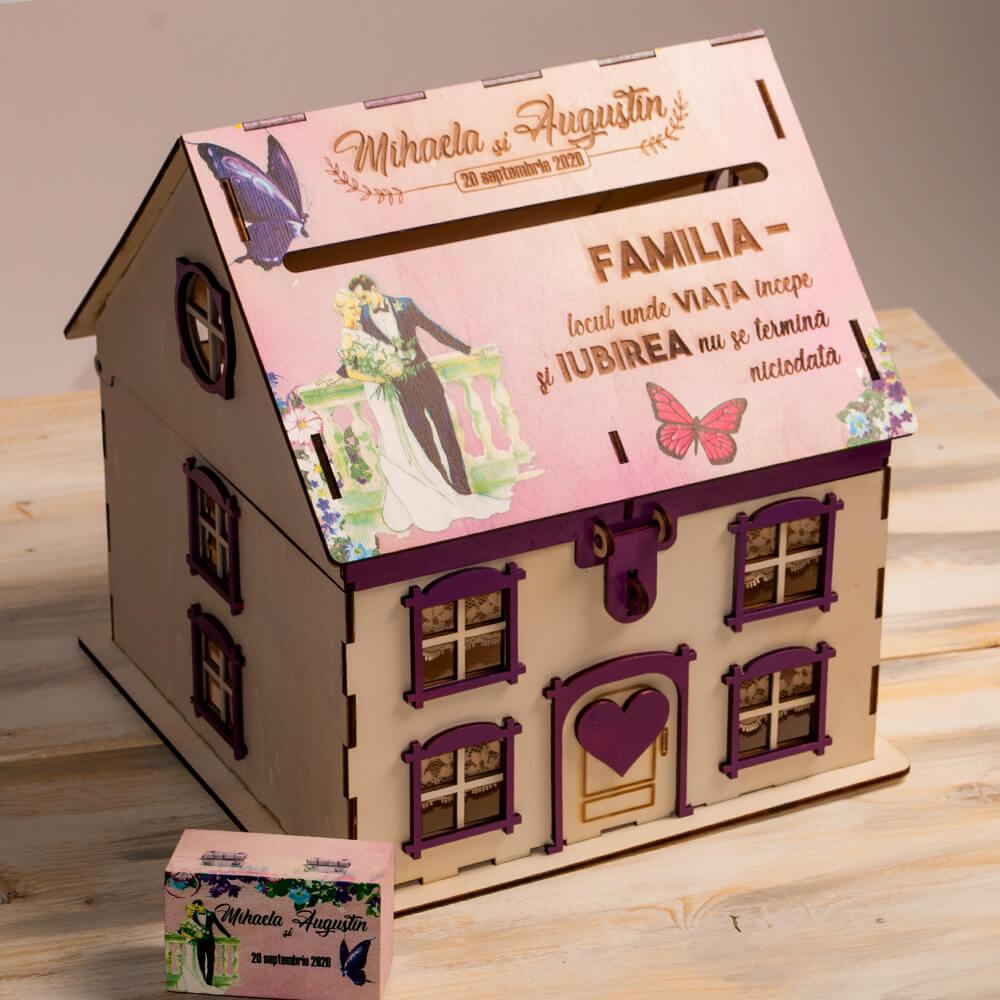 casuta cutie cufar dar nunta