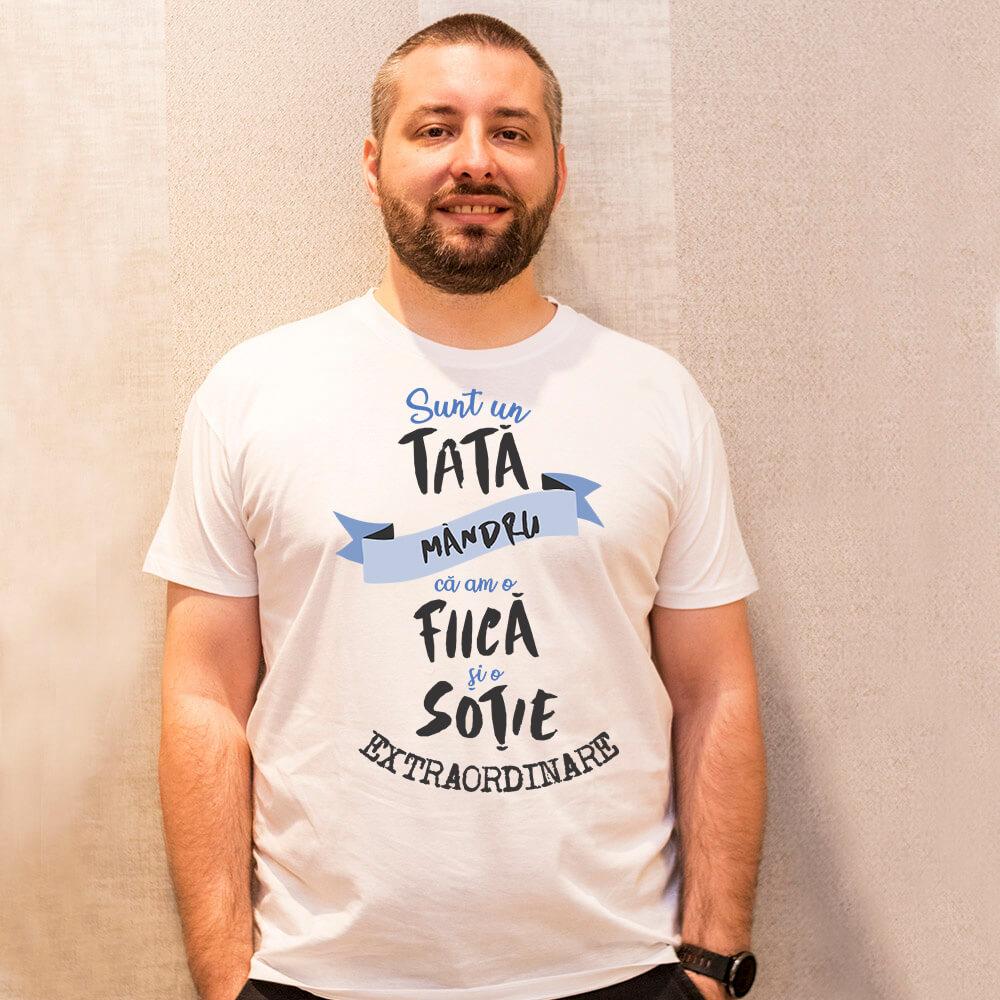 tricou personalizat sunt un tata mandru
