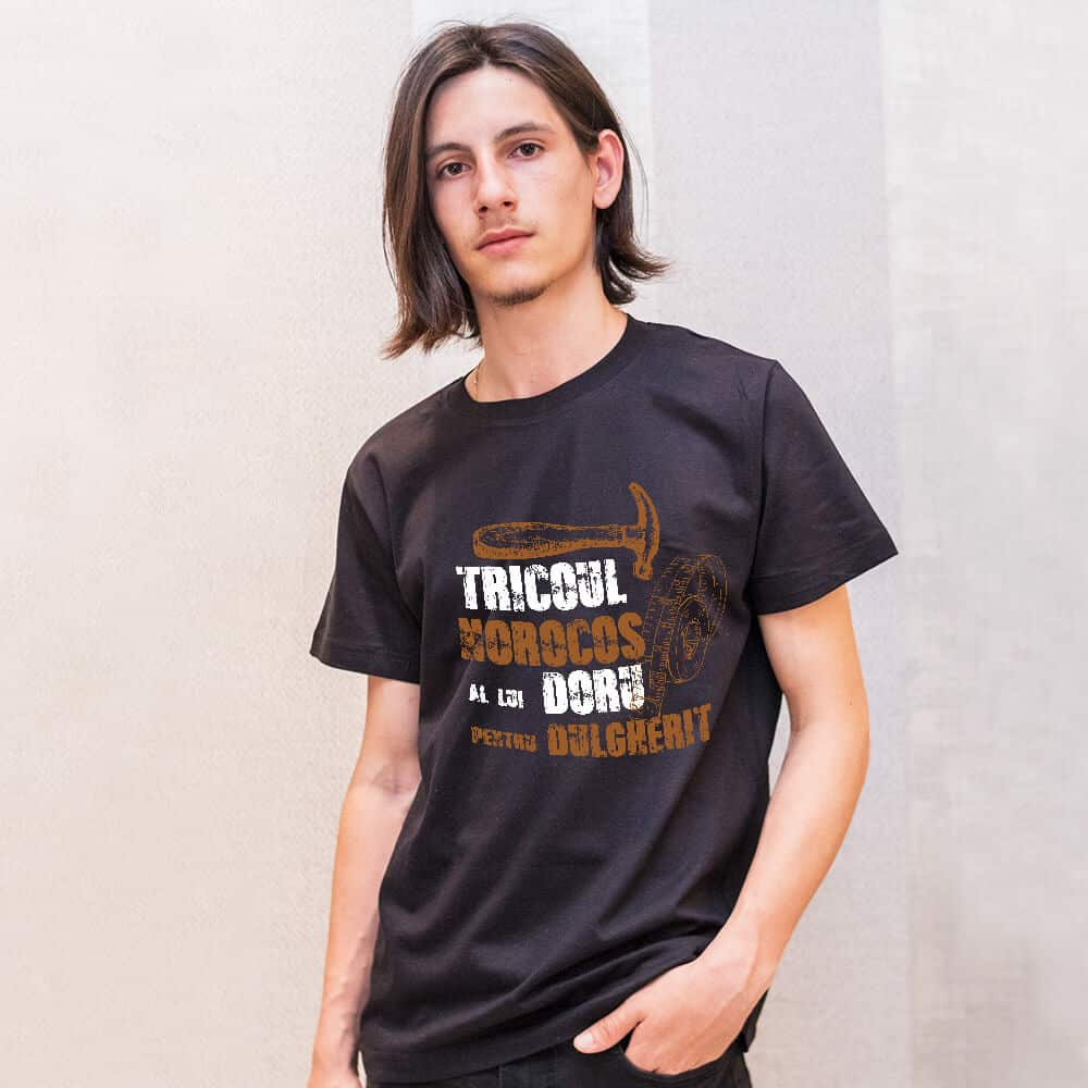 tricou negru dulgher tamplar