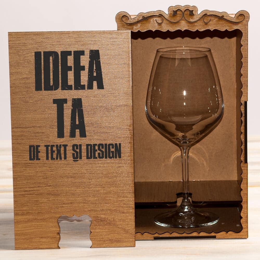 cutii cadou pentru pahare din lemn