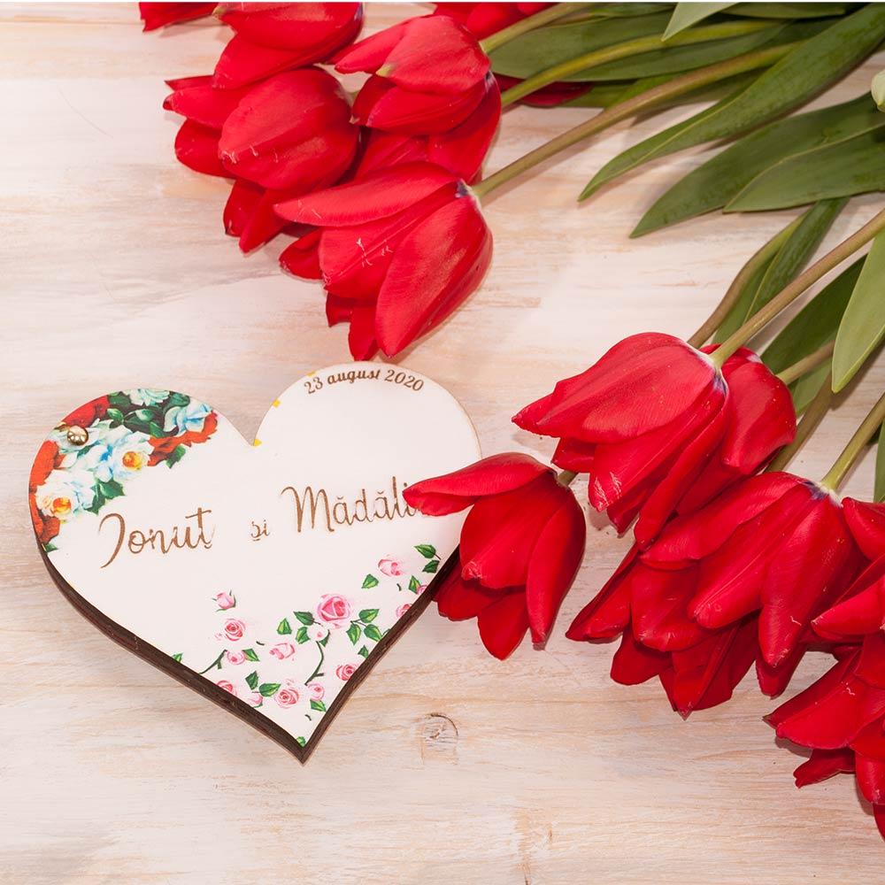 cutie verighete nunta flori