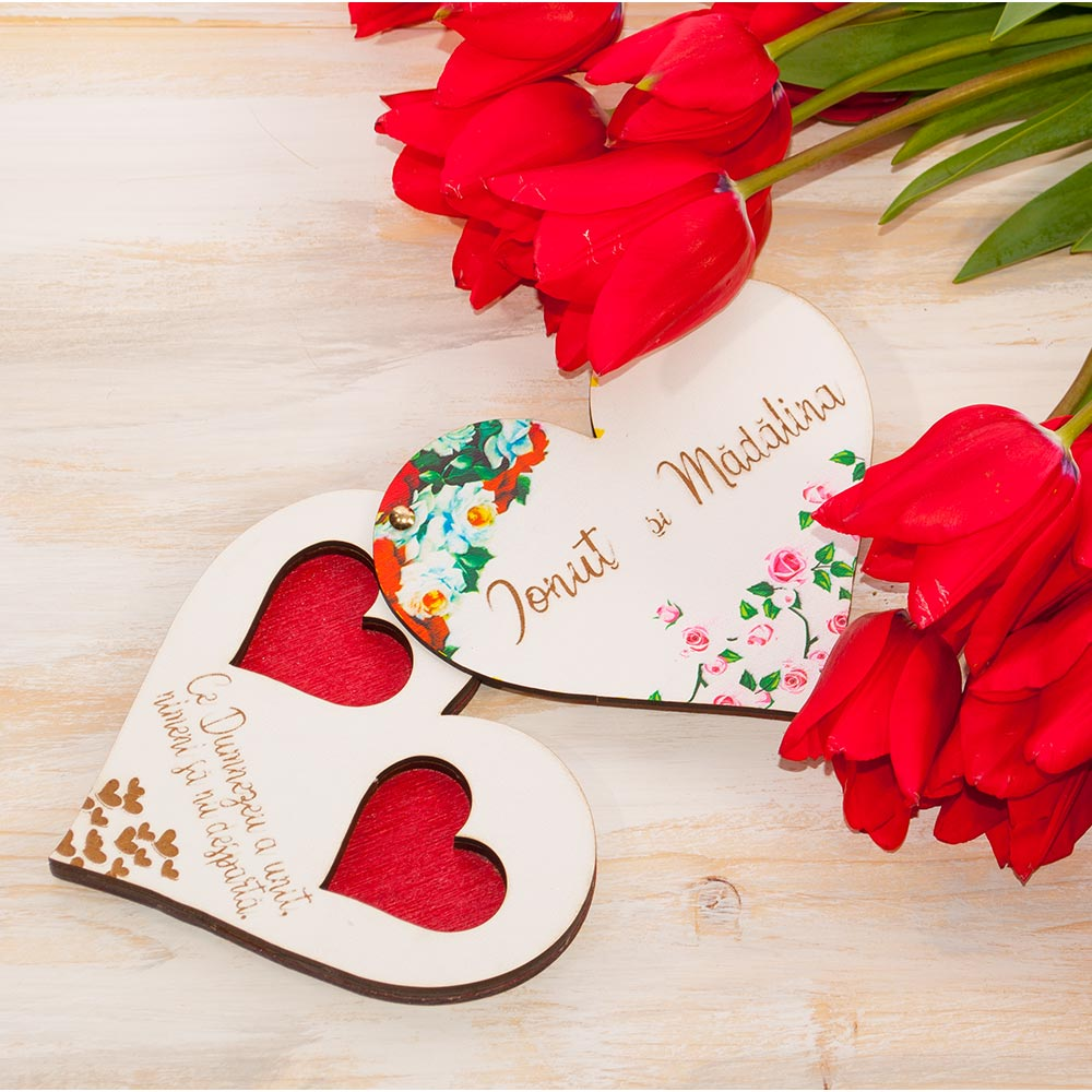 cutie verighete nunta florala