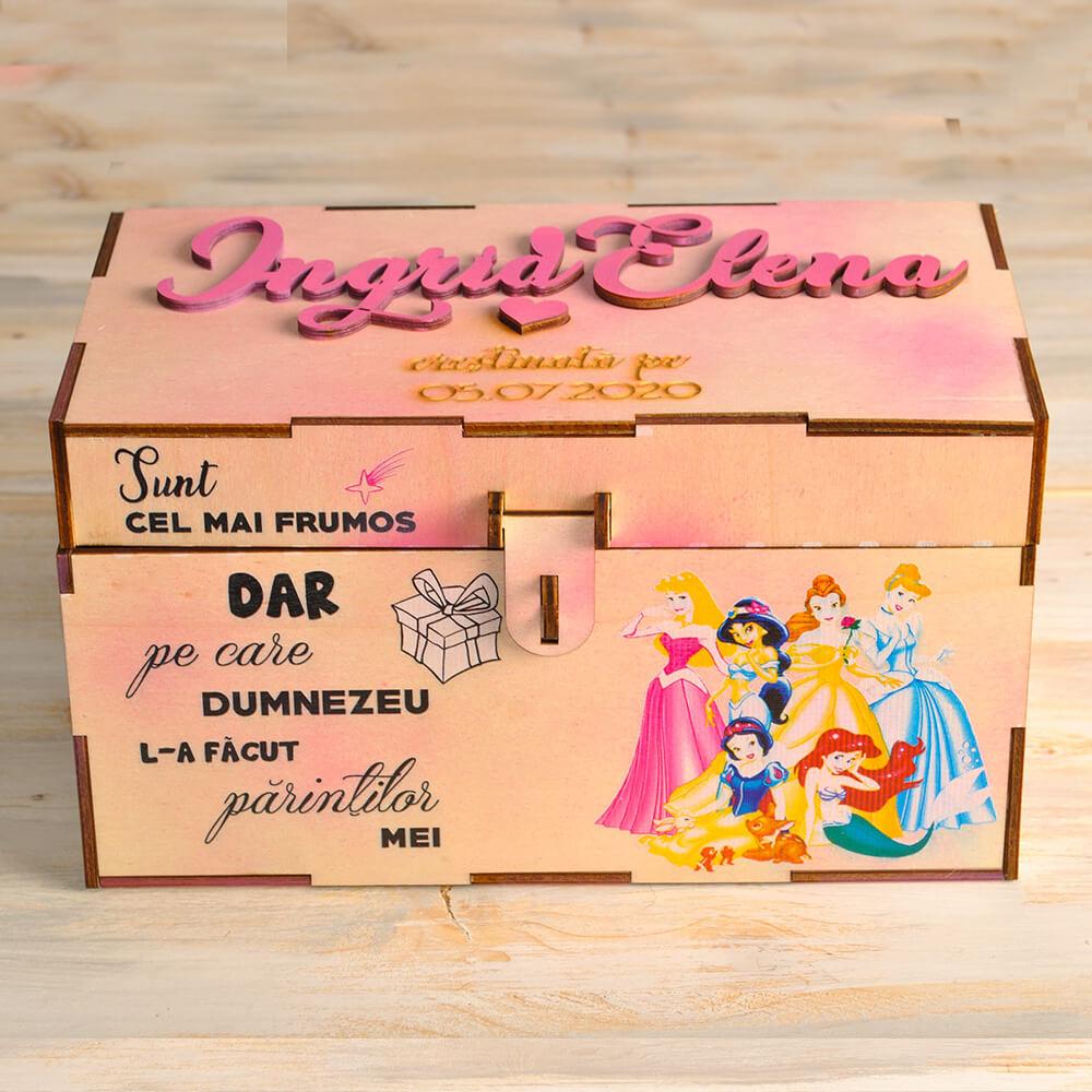 cutie dar amintiri mica copii botez