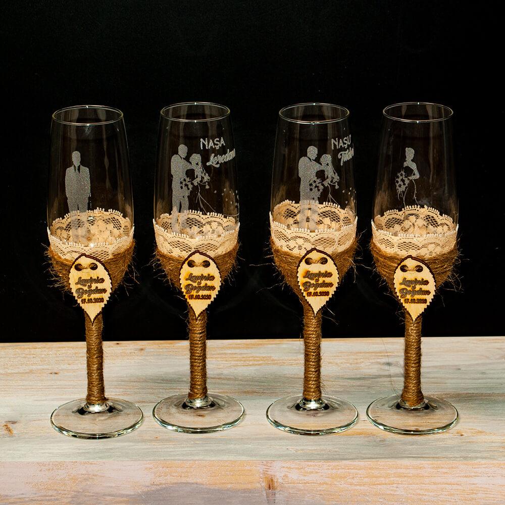 pahare nunta rustice sfoara