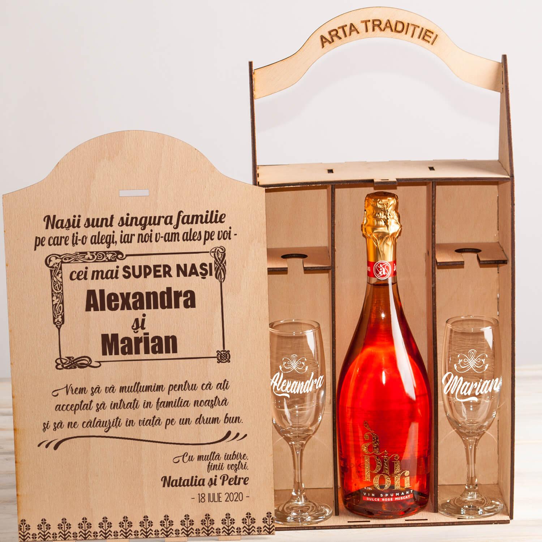 Nasii - super nasi cutie sampanie cadouri personalizate nasi