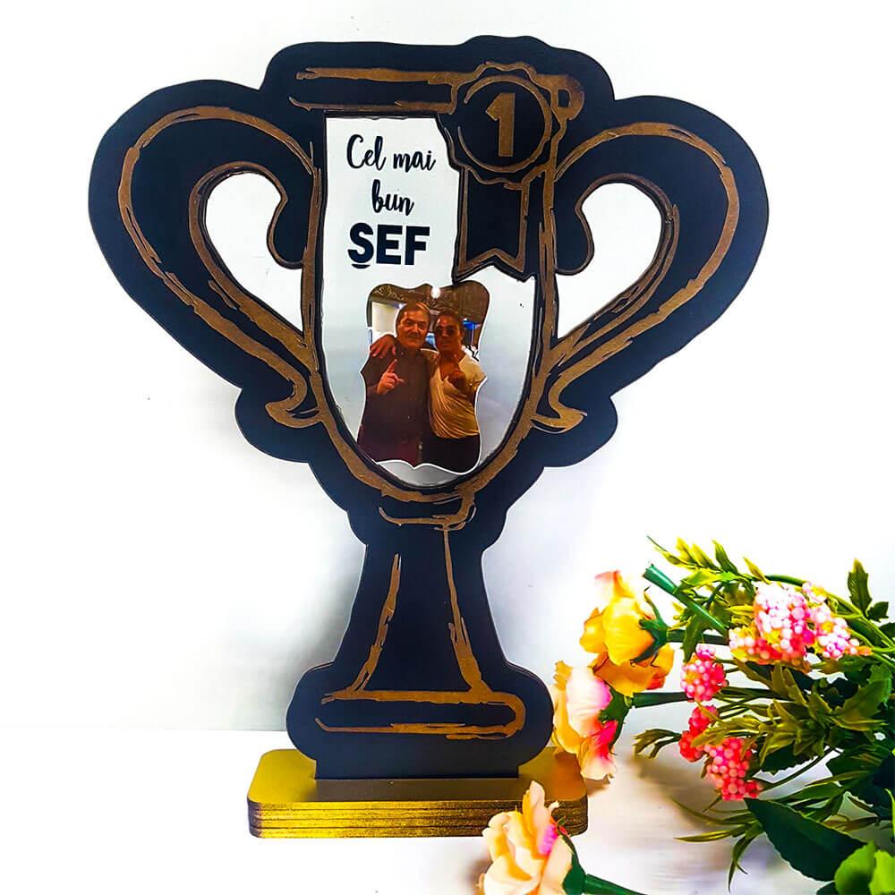 Trofeu personalizat sef