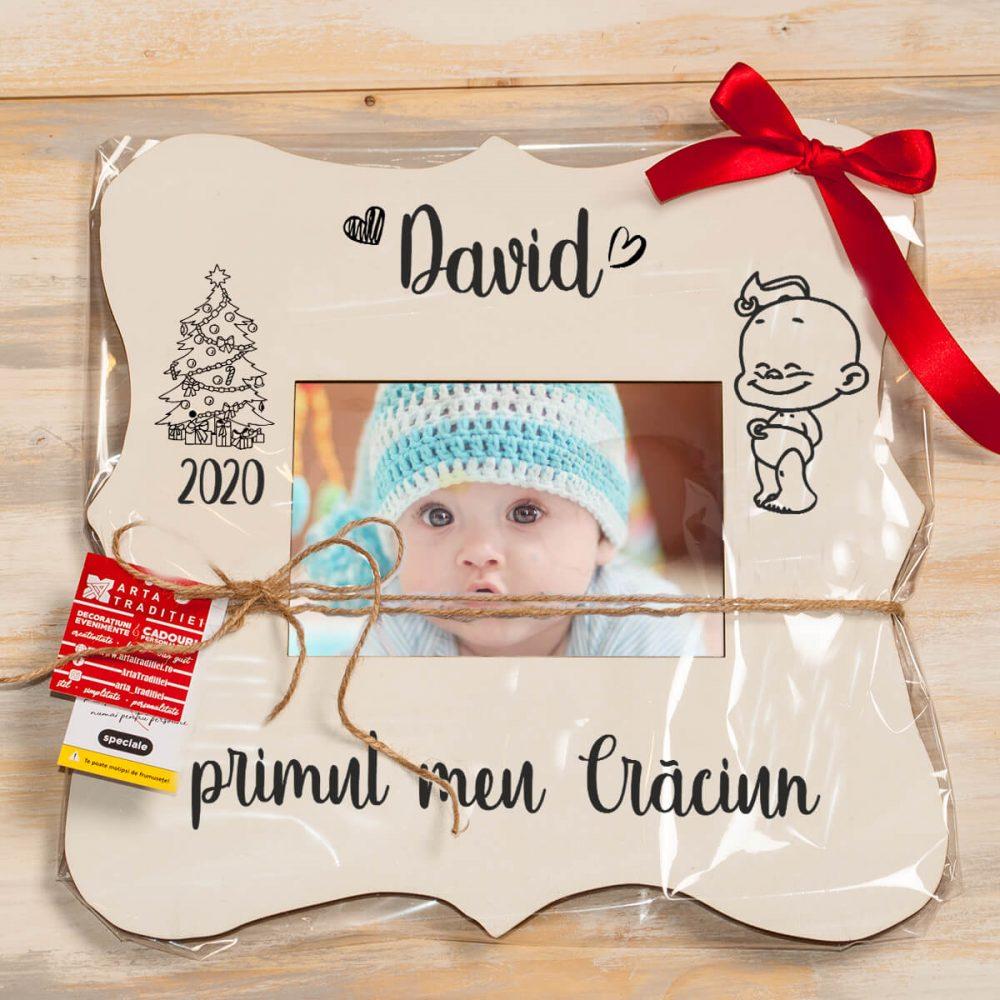 cadou bebe rama foto personalizata bebelus copil