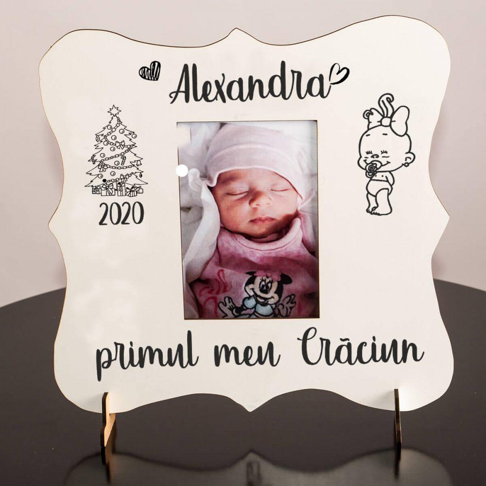 cadou bebe rama foto personalizata