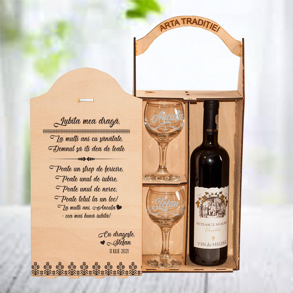 set vin ro personalizat iubita la multi ani