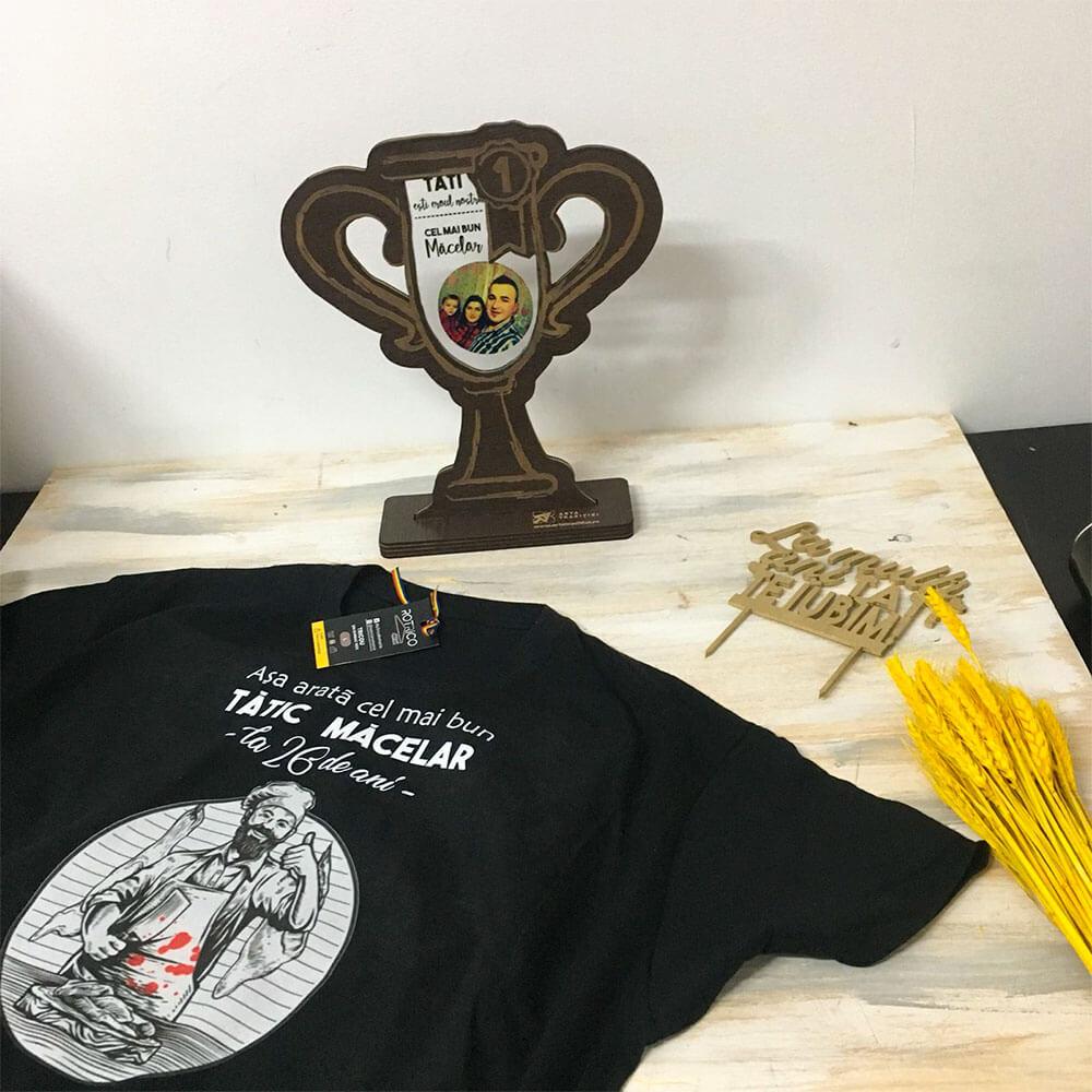 Set cadou personalizat Măcelar (tricou, trofeu)