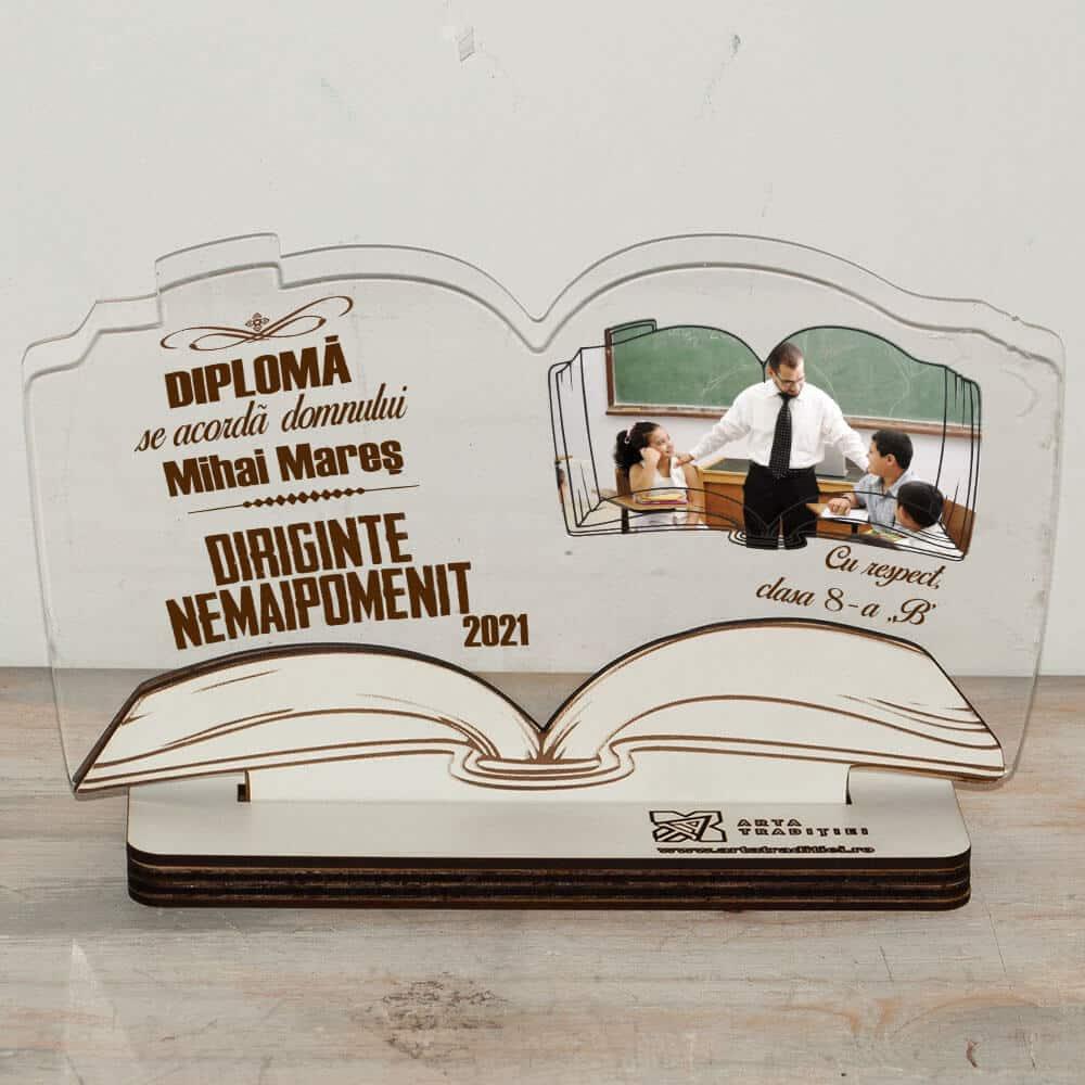 Trofeu carte - diplomă - Diriginte-