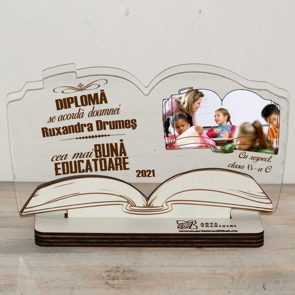 trofeu carte diploma cea mai buna educatoare