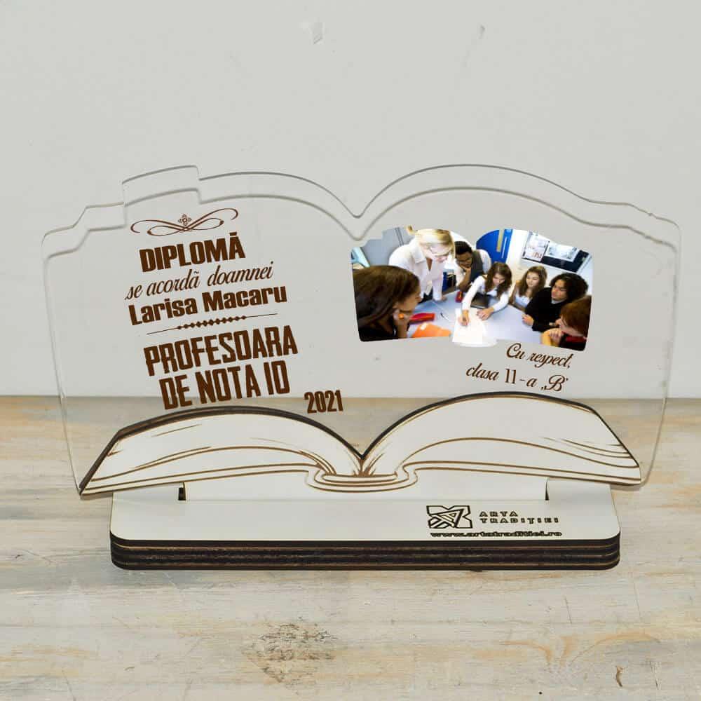 trofeu carte diploma profesoara de nota 10