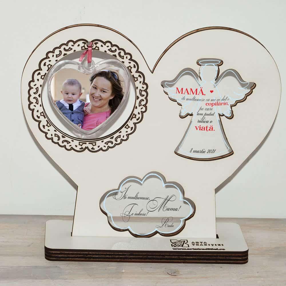 Trofeu înger și inimă- cadou mamă– Copilărie