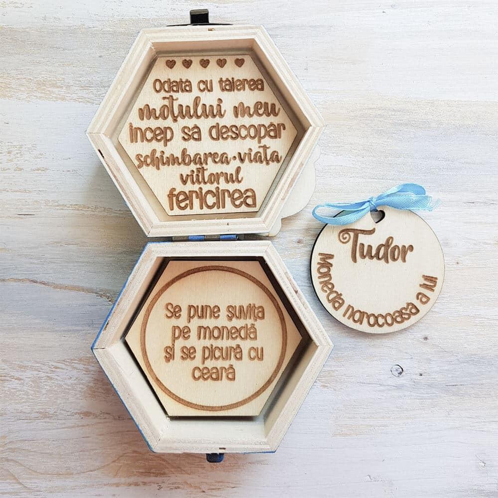 cutie mot cu mesaj personalizat