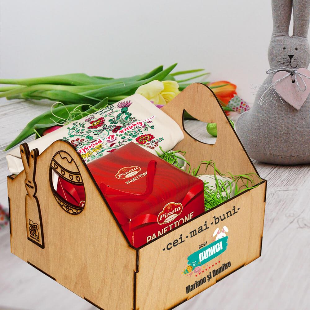 cutie personalizata paste bunici tricou cana panettone