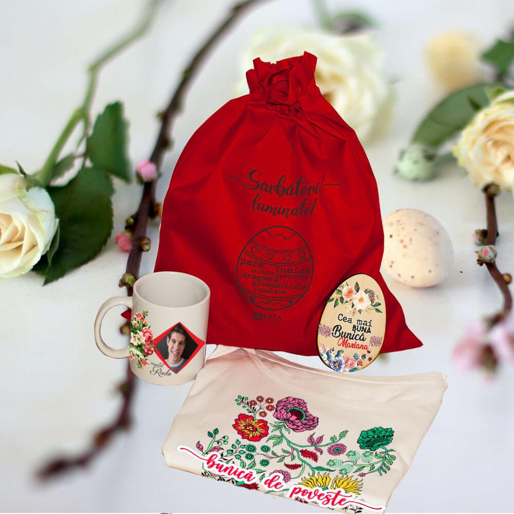 set personalizat bunica paste ou cana sacut tricou